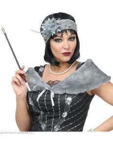 Kit de accesorios charlestón años 20 gris para mujer
