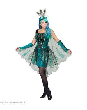 Påfugl kostyme til dame