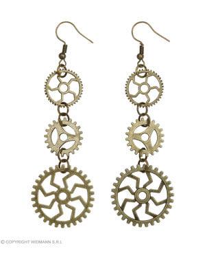 Steampunk metallic earrings
