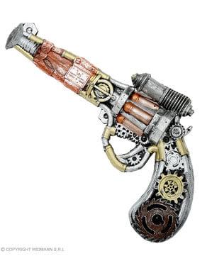 Revolver steampunk en mousse