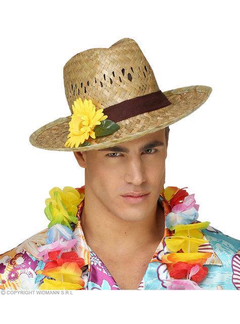 Sombrero de paja con girasol - para tu disfraz