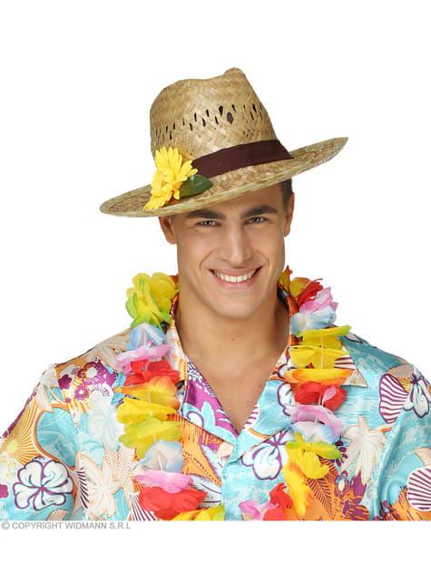 Pălărie de paie cu floarea soarelui