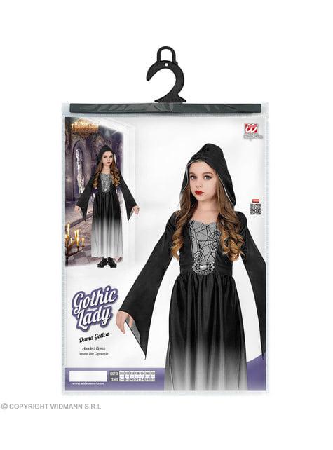 Disfraz de dama gótica para niña - traje