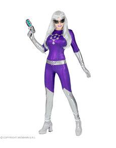 Disfraz de alienígena morada para mujer