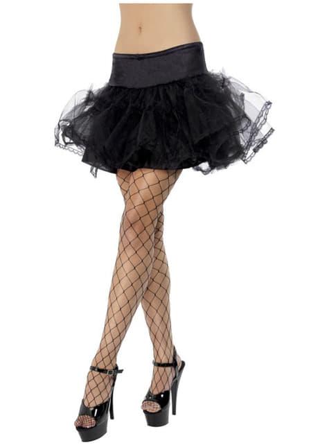 Fekete Tüll Petticoat