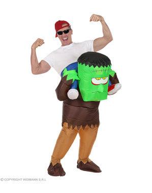 Oppusteligt Frankie ridder kostume til voksne