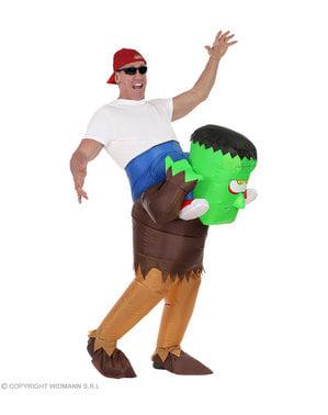 Fato de Frankie insuflável ride on para adulto