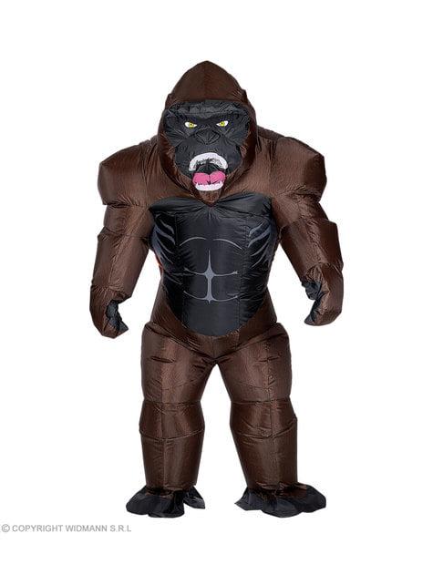 Disfraz de gorila Kong hinchable para adulto - hombre