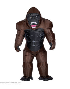 Kostium goryl Kong nadmuchiwany dla dorosłych