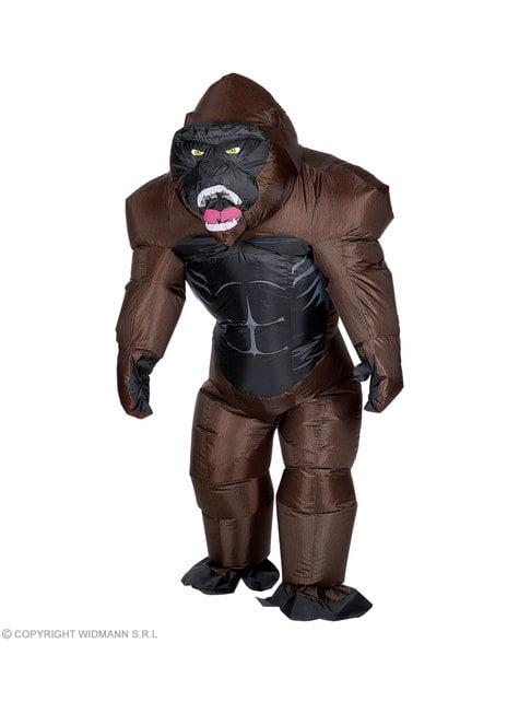 Disfraz de gorila Kong hinchable para adulto - traje