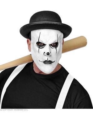 Psykopat harlekin maske til voksne
