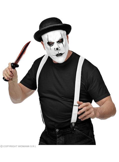 Máscara de arlequín psicópata para adulto