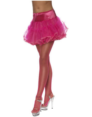 Enagua de tul hot pink