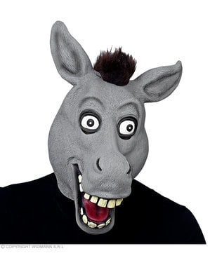 Máscara de burro engraçado para adulto