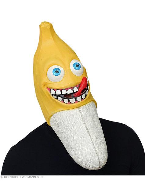 Maska przerażającego banana dla dorosłych