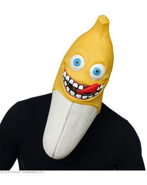 Maschera da banana creepy per adulto