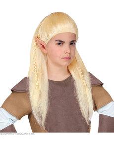 Peluca de elfo arquero para niño