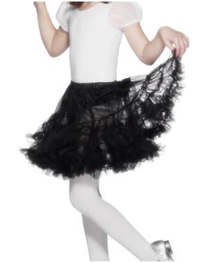 Tylová dívčí spodnička černá