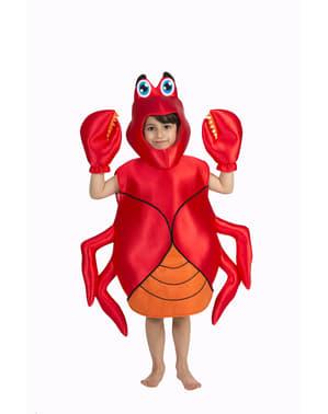 Fato de caranguejo infantil