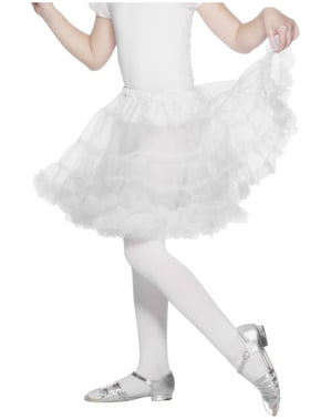 Anágua branca para menina