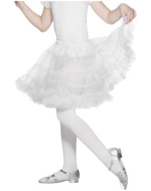 Enagua blanca para niña