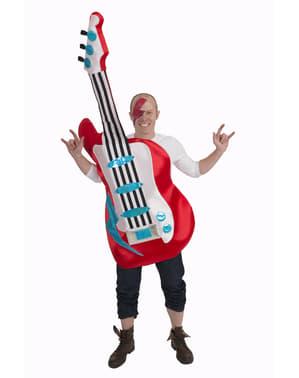 Maskeraddräkt elektrisk gitarr för vuxen