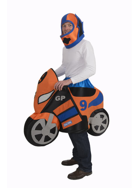 Racing motorbike costume for adults