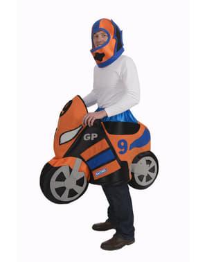 Disfraz de moto de carreras para adulto