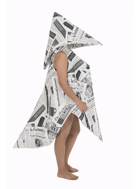 Disfraz de pajarita de papel para adulto
