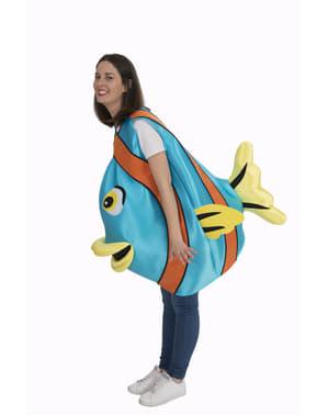 Costum de pește albastru pentru adult