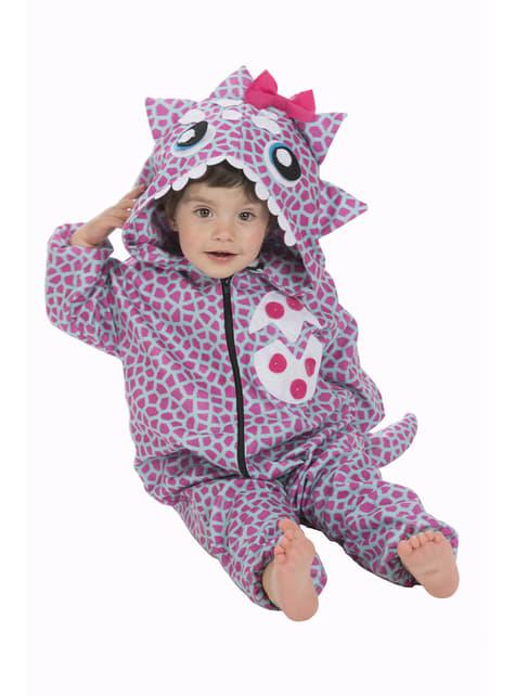 Bebekler için pembe dinozor kostümü