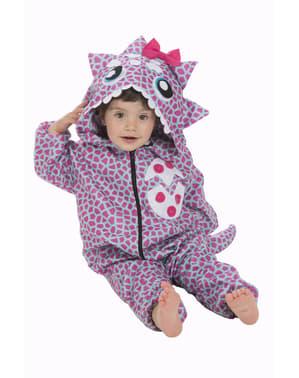Costum de dinozaur pink pentru bebeluși