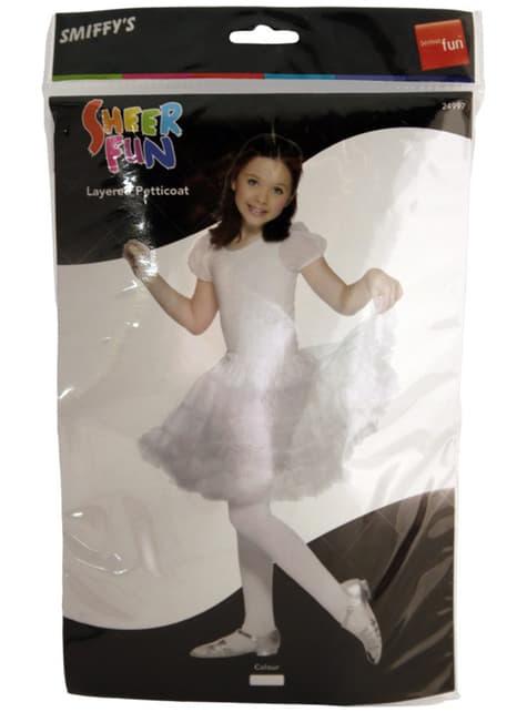 Enagua blanca para niña - para tu disfraz