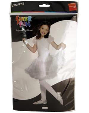 Halka biała dla dziewczynki