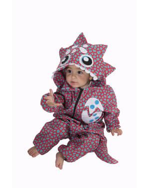 Costume da dinosauro blu per neonato