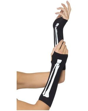 Rękawiczki szkieleta długie