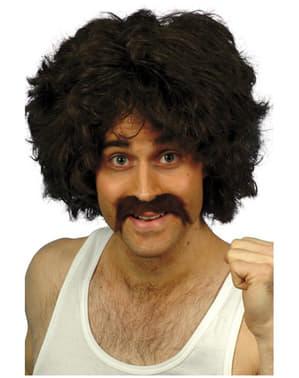 Set parrucca e baffi retrò da uomo
