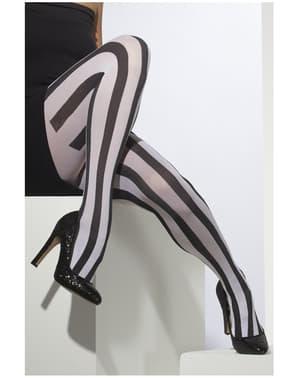 Mustavalkoraidalliset sukkahousut