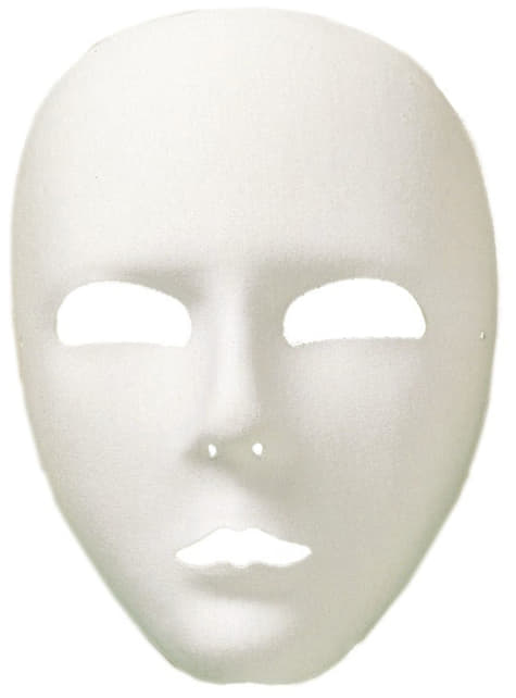 Klasyczna biała maska