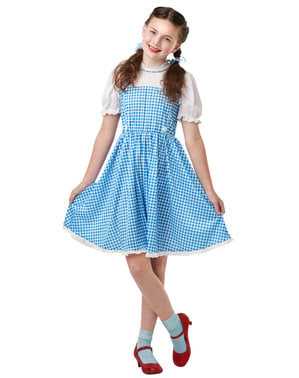 Dorothy kostyme til jente - Trollmannen fra Oz
