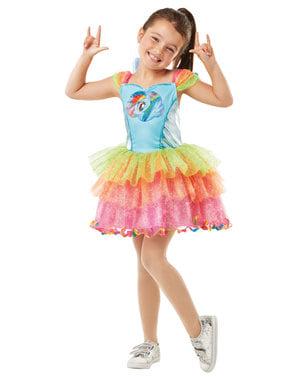 लड़कियों के लिए इंद्रधनुष डैश पोशाक - मेरी छोटी टट्टू