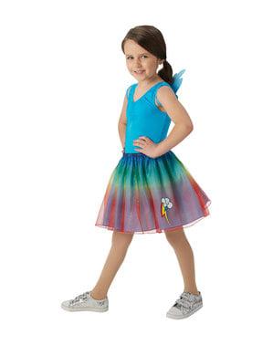 Kit disfarce de Rainbow Dash para menina - Meu Pequeno Pónei
