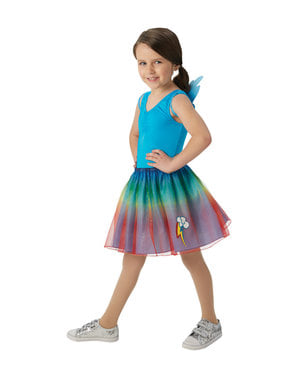 Kit disfraz de Rainbow Dash para niña - Mi Pequeño Pony