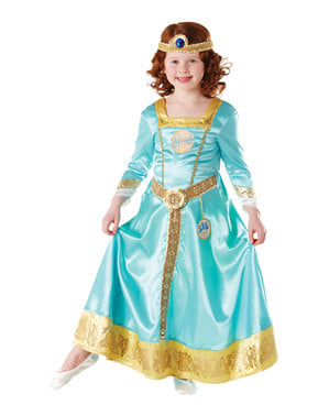 Deluxe Merida costume for girls