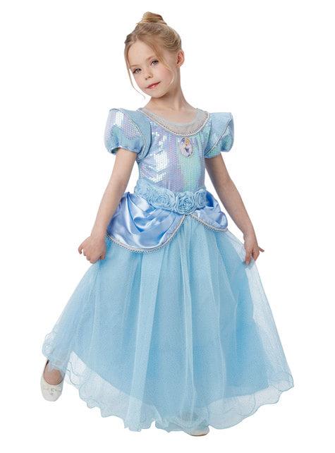 Disfraz de Cenicienta premium para niña