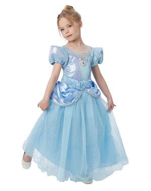 Costum Cenușăreasa premium pentru fată