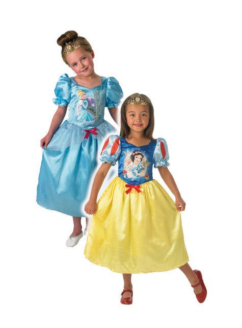 Fato de Cinderela e Branca de Neve reversível para menina