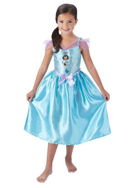 Fato de Jasmine deluxe para menina - Aladdin