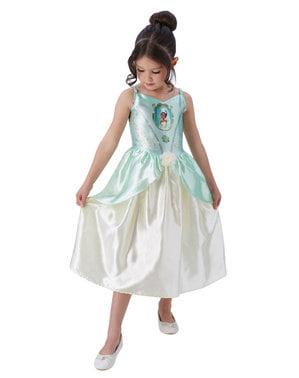 लड़कियों के लिए टियाना पोशाक - राजकुमारी और मेंढक