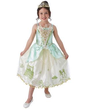 लड़कियों के लिए Tiana प्रतिष्ठा पोशाक - राजकुमारी और मेंढक